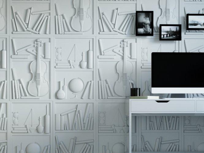 Декор панели в дизайне глэм