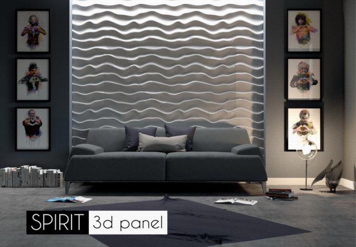 Гипсовые панели в стиле минимализм