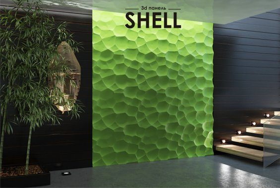 Гипсовая панель Shell
