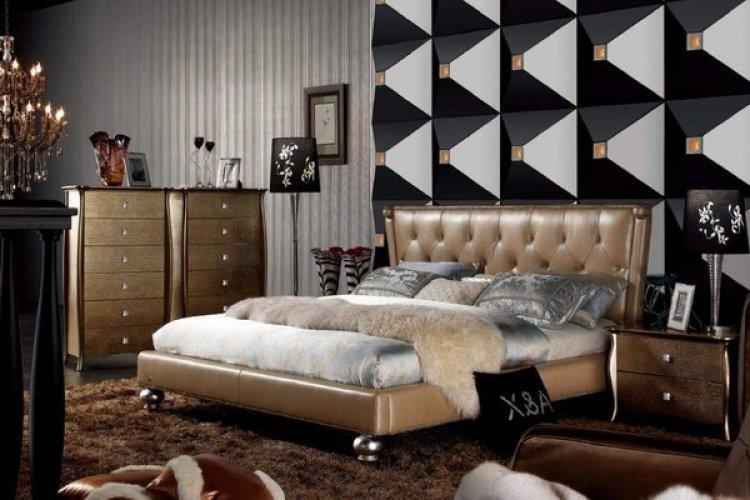 3д панели в Итальянской спальне