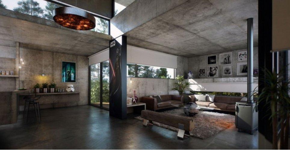 Необрутализм дизайн интерьера