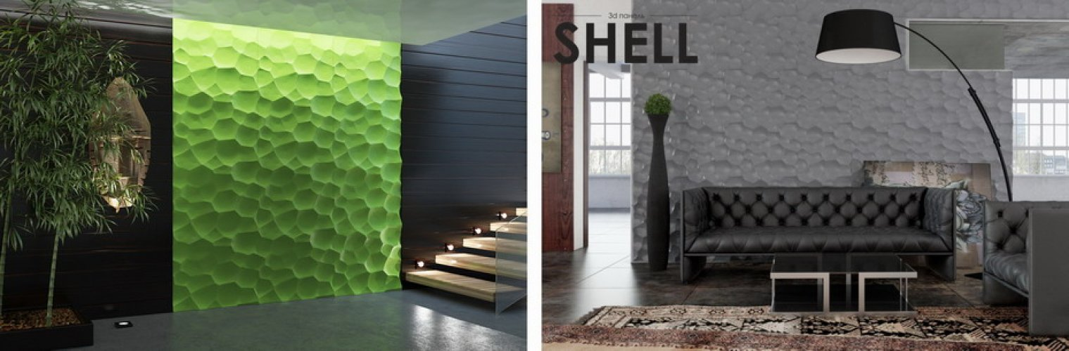 Гипсовая панель Shell остроконечная красота